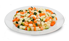 Tricolor Veggie Mix Portions