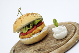 Burger with Edamame soybeans