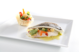 Sea bream fillet sandwich with Verdure Leggerezza